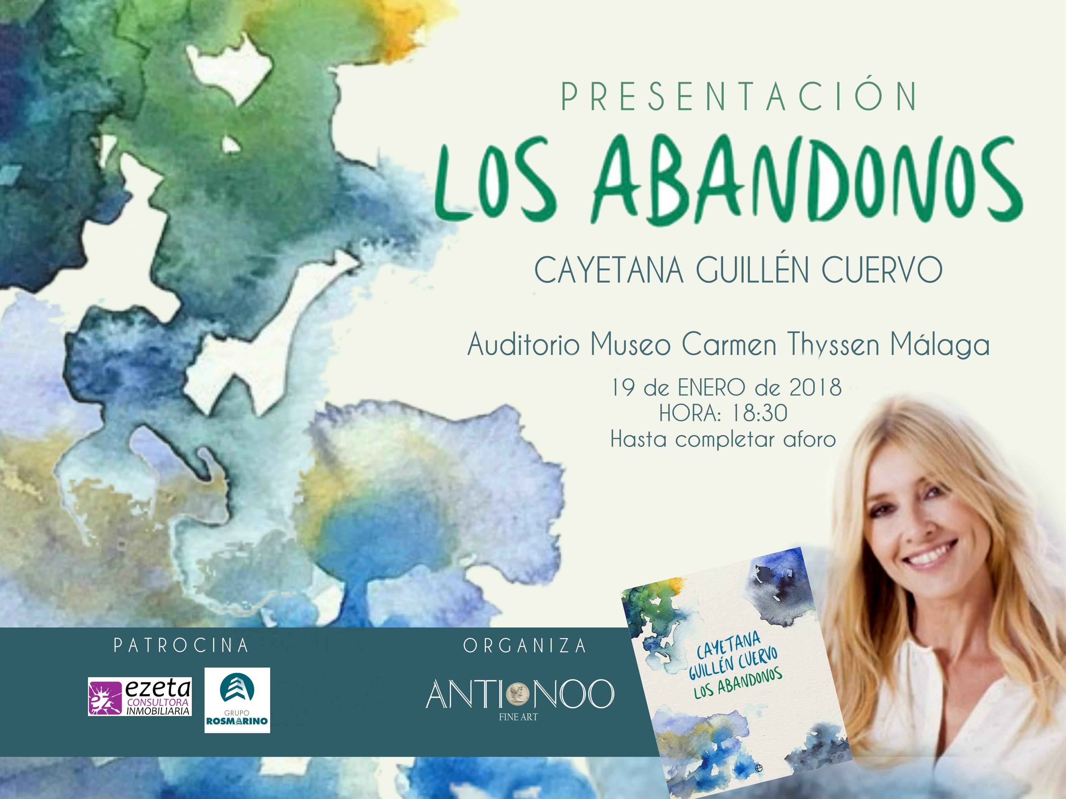 Cayetana Guillén Cuervo presenta Los Abandonos en Málaga